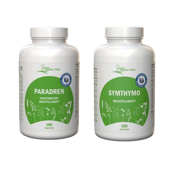 ParAdren & SymThymo är en perfekt kombination för ett bra multitillskott. Vi behöver alla ett bra kosttillskott.